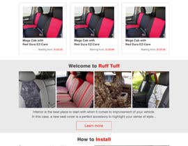 #6 untuk Design a Website Mockup for an auto seat cover manufacturer oleh hshahijanian
