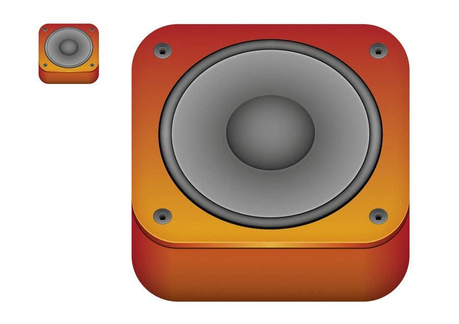 Kilpailutyö #                                        37                                      kilpailussa                                         iPhone/iPad app icon design for music player