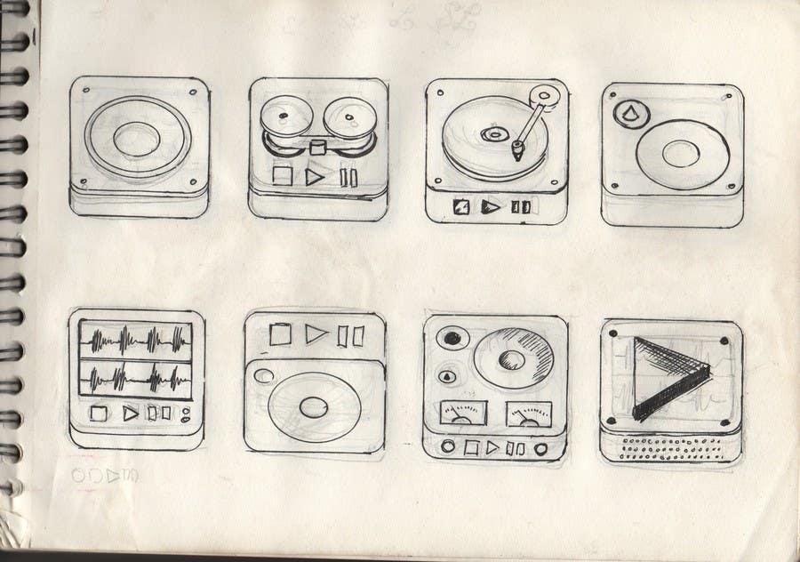 Kilpailutyö #                                        60                                      kilpailussa                                         iPhone/iPad app icon design for music player