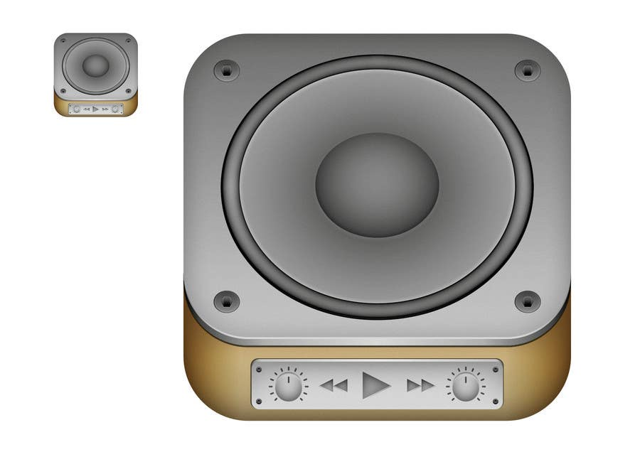 Kilpailutyö #                                        32                                      kilpailussa                                         iPhone/iPad app icon design for music player