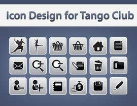 topcoder10 tarafından Icon or Button Design for Tango Club için no 55
