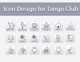 topcoder10 tarafından Icon or Button Design for Tango Club için no 58