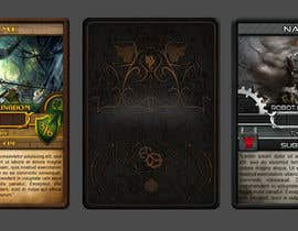 #18 for Trading card game template design with two different backgorunds and the back of the card designed by jorzsitse