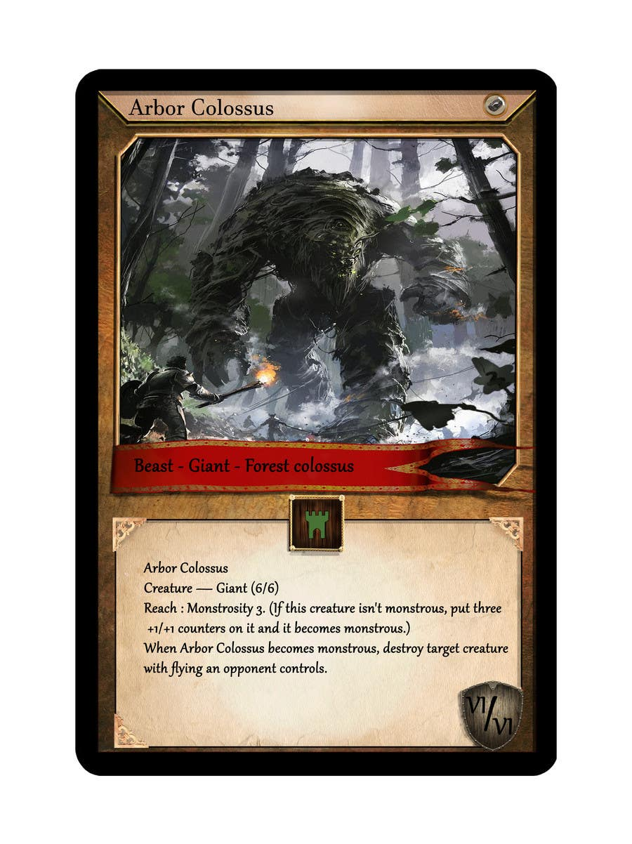 Contest Entry #23 for Trading card game template design with two different backgorunds and the