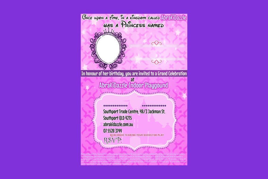 Contest Entry 6 For Design X1 A5 Birthday Invitation Disney Princess Inspired Young