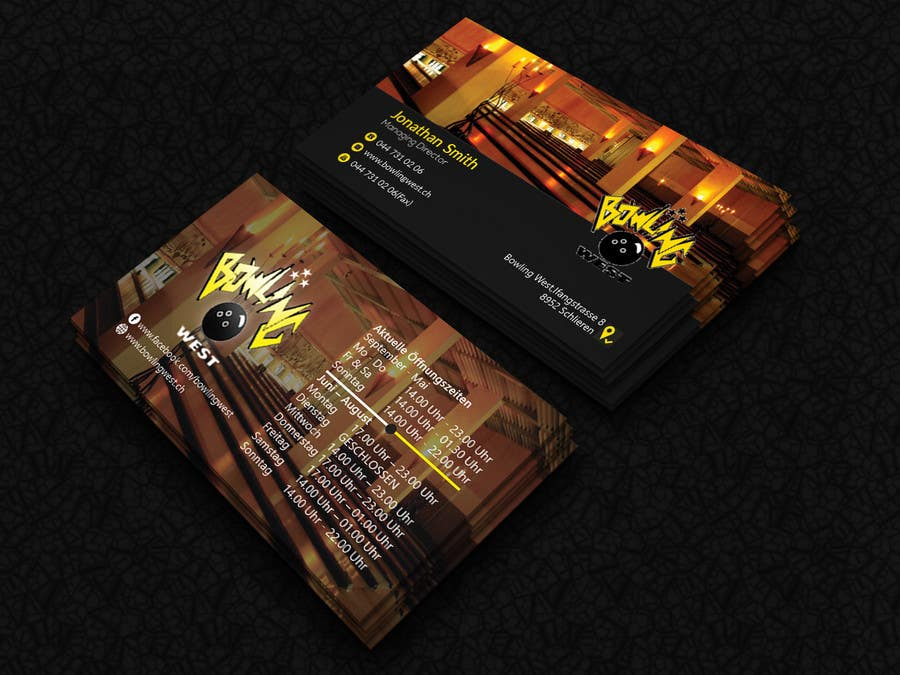 Entry 55 by sabrina5484 for eyecatching business card design for contest entry 55 for eyecatching business card design for bowling alley colourmoves