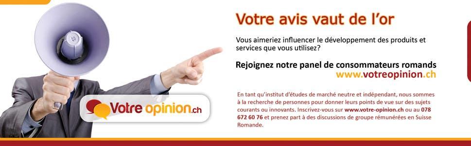 Konkurrenceindlæg #                                        34                                      for                                         Advertisement Design for www.votre-opinion.ch