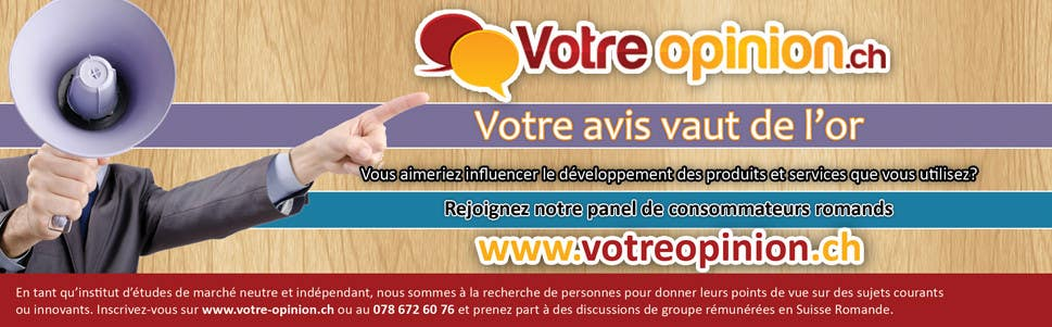 Konkurrenceindlæg #                                        29                                      for                                         Advertisement Design for www.votre-opinion.ch