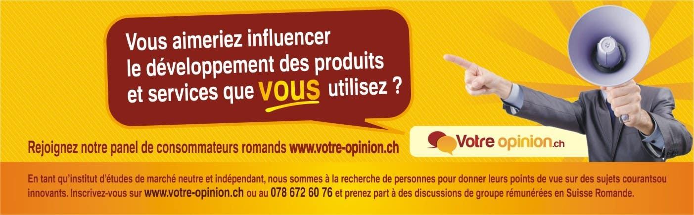 Konkurrenceindlæg #                                        98                                      for                                         Advertisement Design for www.votre-opinion.ch