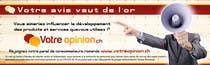 Graphic Design Inscrição do Concurso Nº52 para Advertisement Design for www.votre-opinion.ch