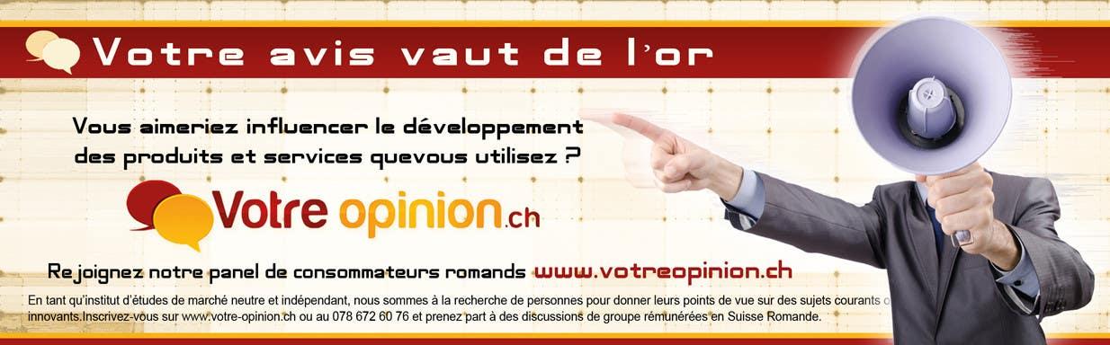 Inscrição nº                                         52                                      do Concurso para                                         Advertisement Design for www.votre-opinion.ch