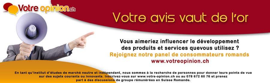 Inscrição nº                                         65                                      do Concurso para                                         Advertisement Design for www.votre-opinion.ch