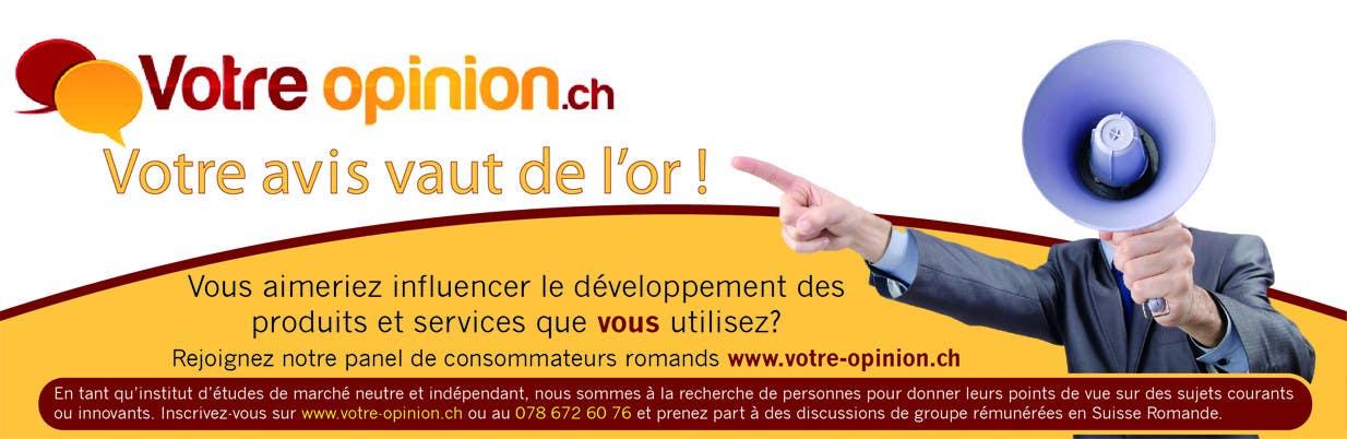 Inscrição nº                                         63                                      do Concurso para                                         Advertisement Design for www.votre-opinion.ch