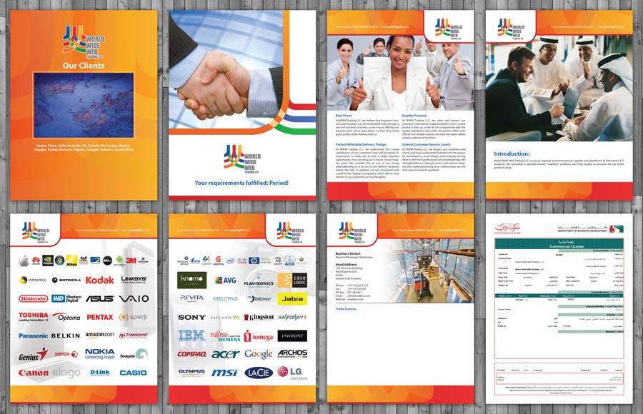 """Intrarea #14 pentru concursul """"Brochure Design for World Wide Web Trading LLC"""""""