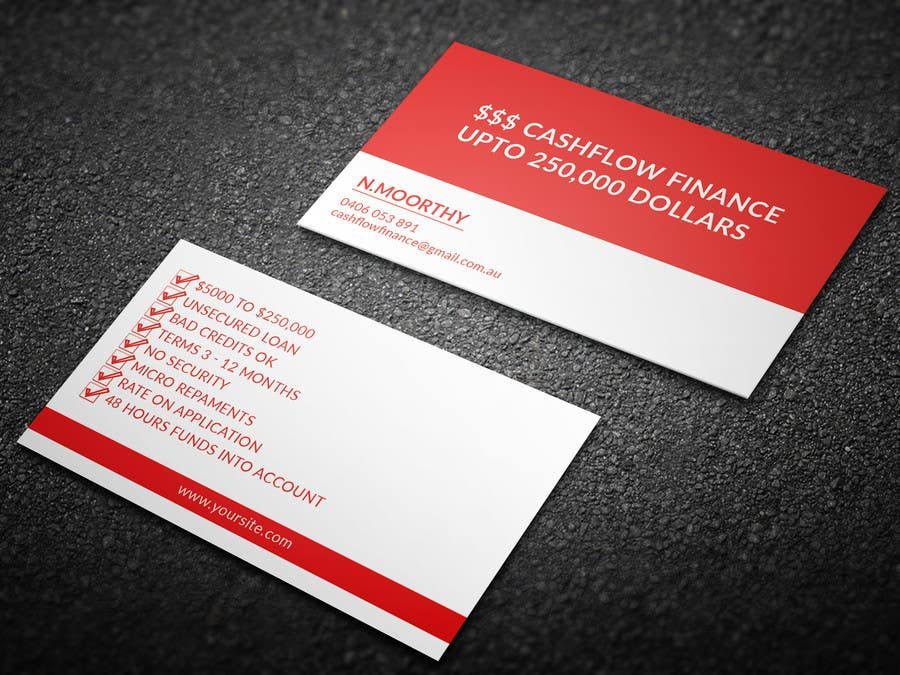 Entry #12 by mhtushar322 for business card IN DEEP RED AND WHITE ...