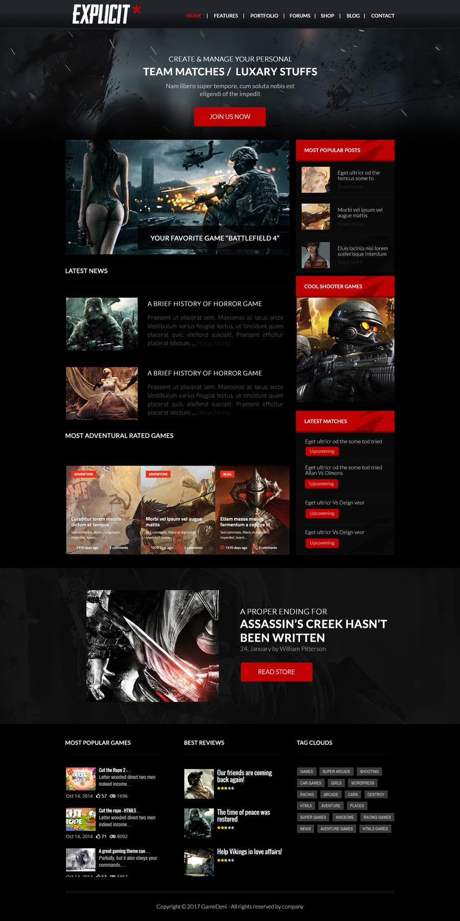 entry 10 by roboexperts for psd template for a gaming website freelancer. Black Bedroom Furniture Sets. Home Design Ideas