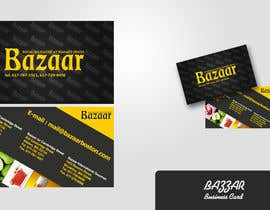 #19 para Business Card Design for Bazaar por dirav