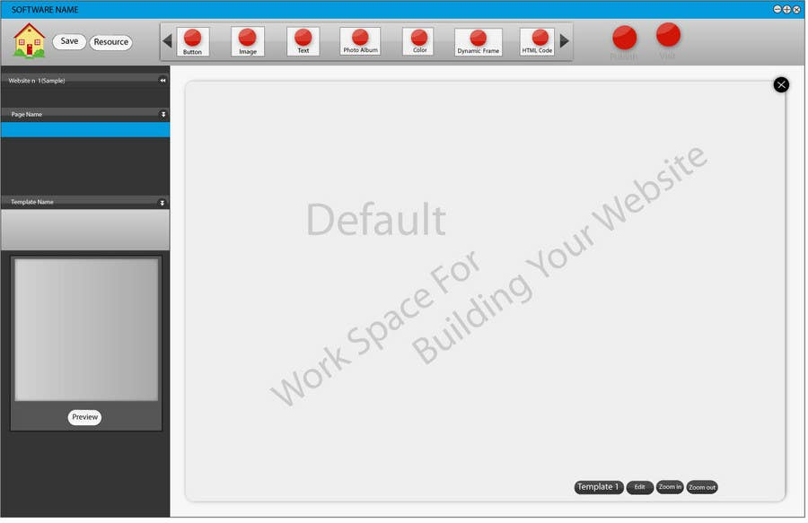 #23 for User Interface design for Website Builder Software by rana60