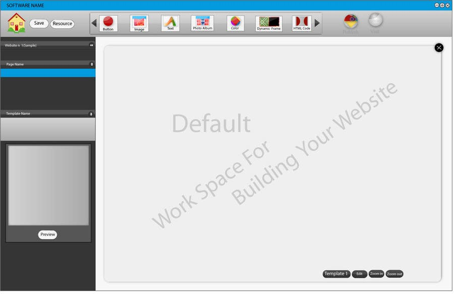 #25 for User Interface design for Website Builder Software by rana60