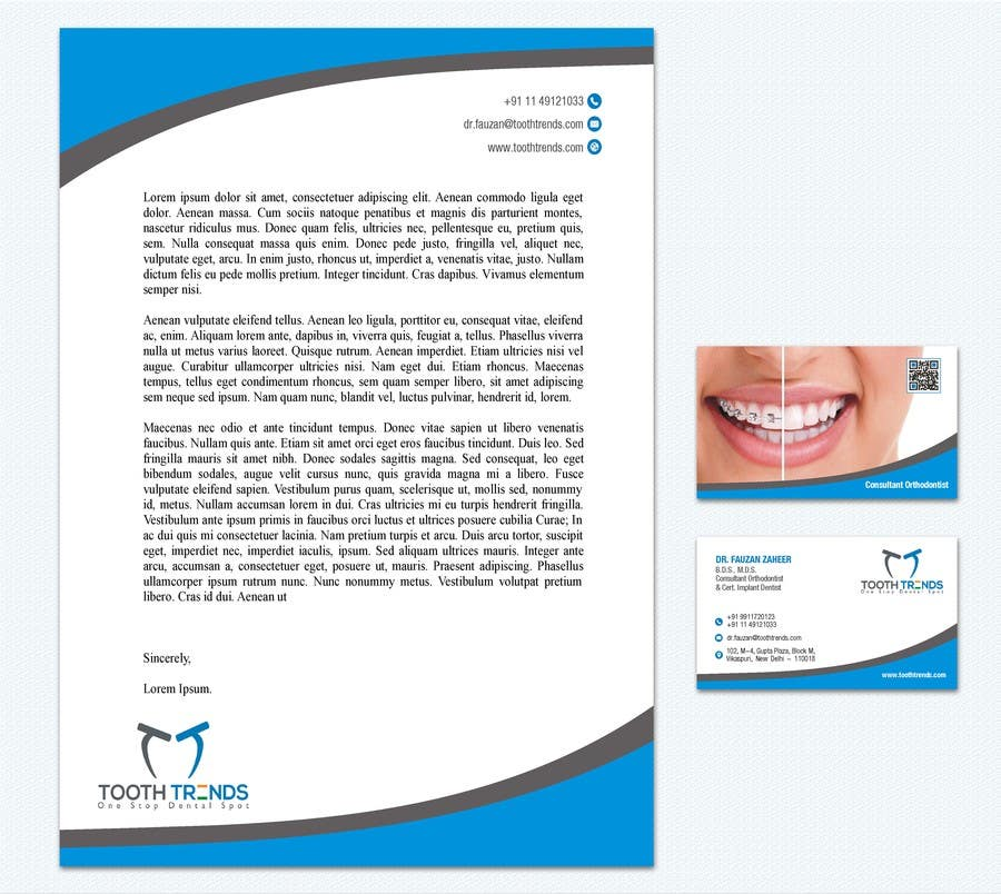 Entry 142 by arenadfx for creative business card and letterhead contest entry 142 for creative business card and letterhead design required for an orthodontist reheart Choice Image
