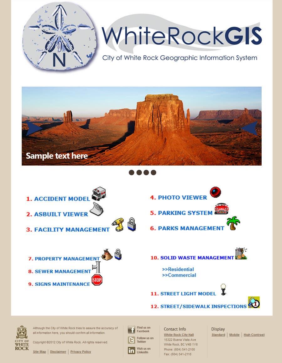 Inscrição nº                                         2                                      do Concurso para                                         Internal GIS Website Homepage Design for City of White Rock