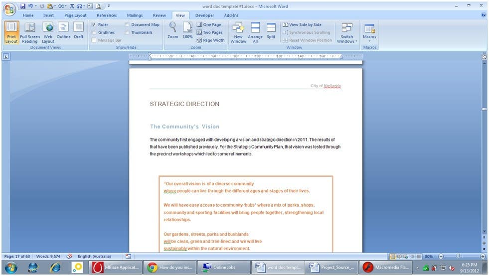 #31 for Word Document Template by Floralfs