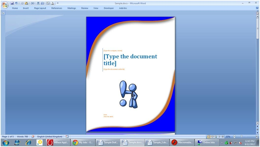 #5 for Word Document Template by Floralfs