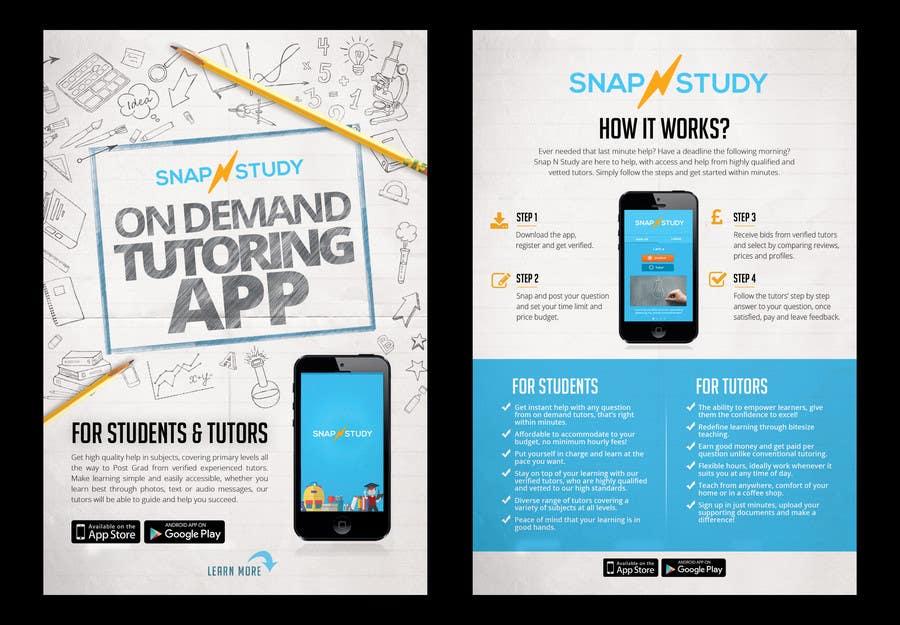 entry 7 by belliskc for design a tutoring app flyer freelancer