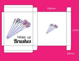 #6 para Package design for makeup brush de emon3970