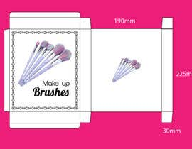 #7 para Package design for makeup brush de emon3970