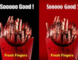 "#33 para Large 3' x 4' poster for a zombie fast food restaurant of a box of ""severed fingers"" de freeland972"