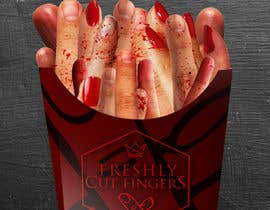"#25 para Large 3' x 4' poster for a zombie fast food restaurant of a box of ""severed fingers"" de Kitteehdesign"