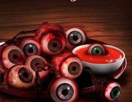 #35 para Large 3' x 4' poster for a zombie restaurant - a little box of eyeballs de freeland972
