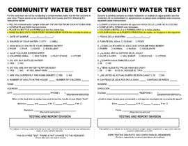 #2 for WATER TEST FORM DESIGN by beltran0404