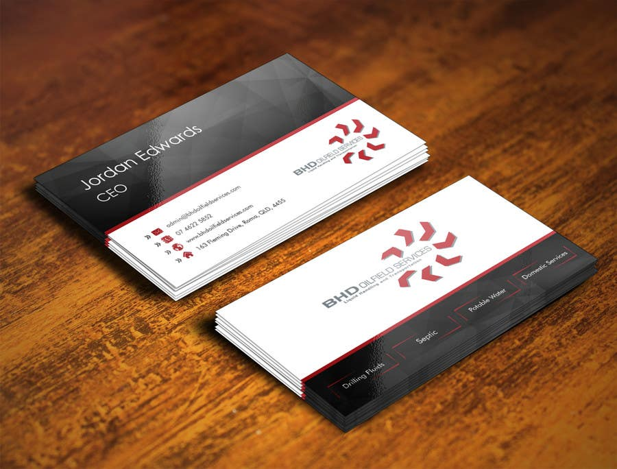 Entry #76 by loupesko for BHD Oilfield Services Business Cards ...