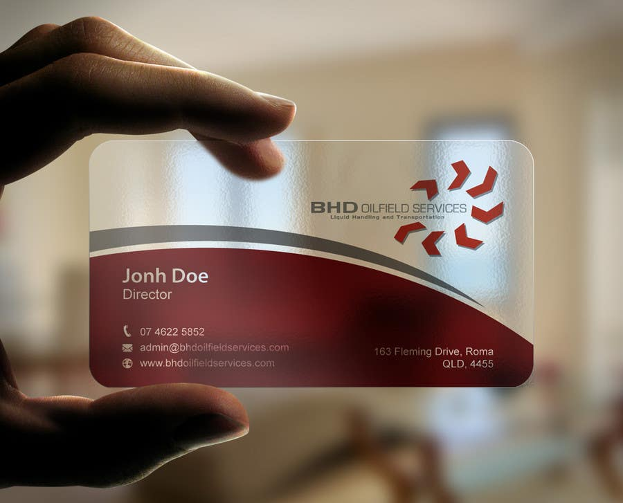 Entry #121 by mdreyad for BHD Oilfield Services Business Cards ...