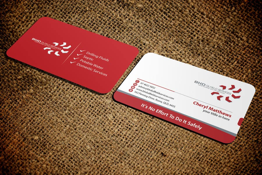 Entry #100 by mamun313 for BHD Oilfield Services Business Cards ...