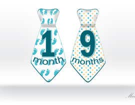 #27 for Baby Boy Milestone Tie Stickers by makic90