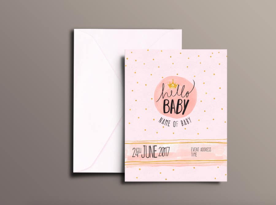 Entry 9 by paufreelancerph for design baby shower invitation for contest entry 9 for design baby shower invitation for print and digital and a filmwisefo