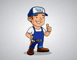 #30 for Cartoon Roofer Illustration Design by areztoon