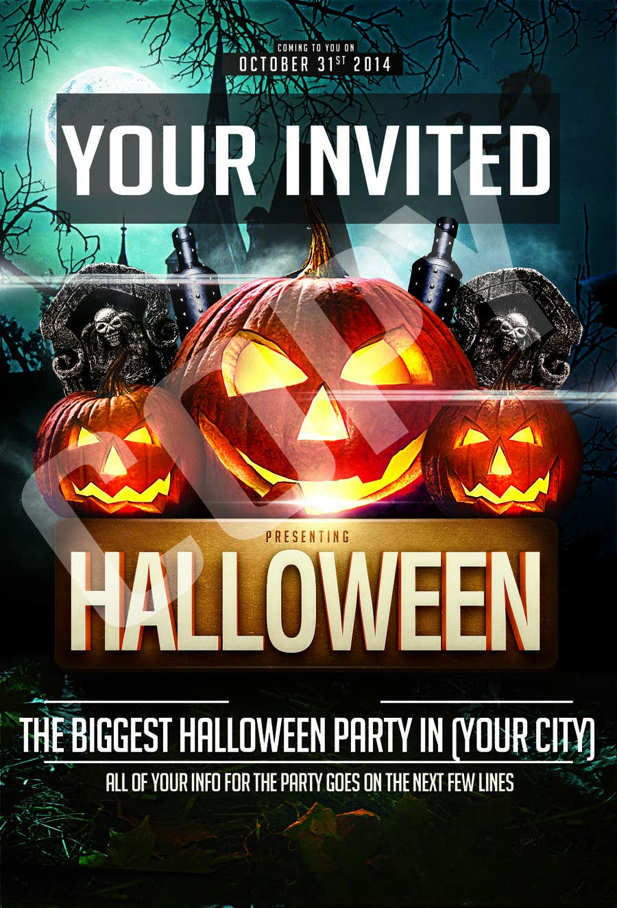 entry 1 by dbstudio720 for design a flyer for a halloween costume