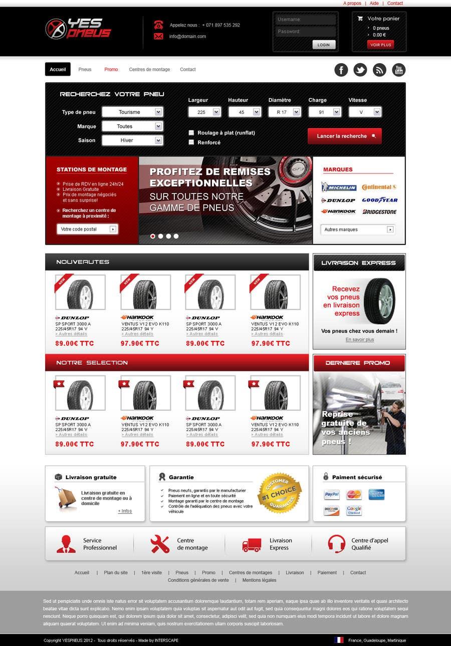#35 for Website Design for Tyres by dragnoir