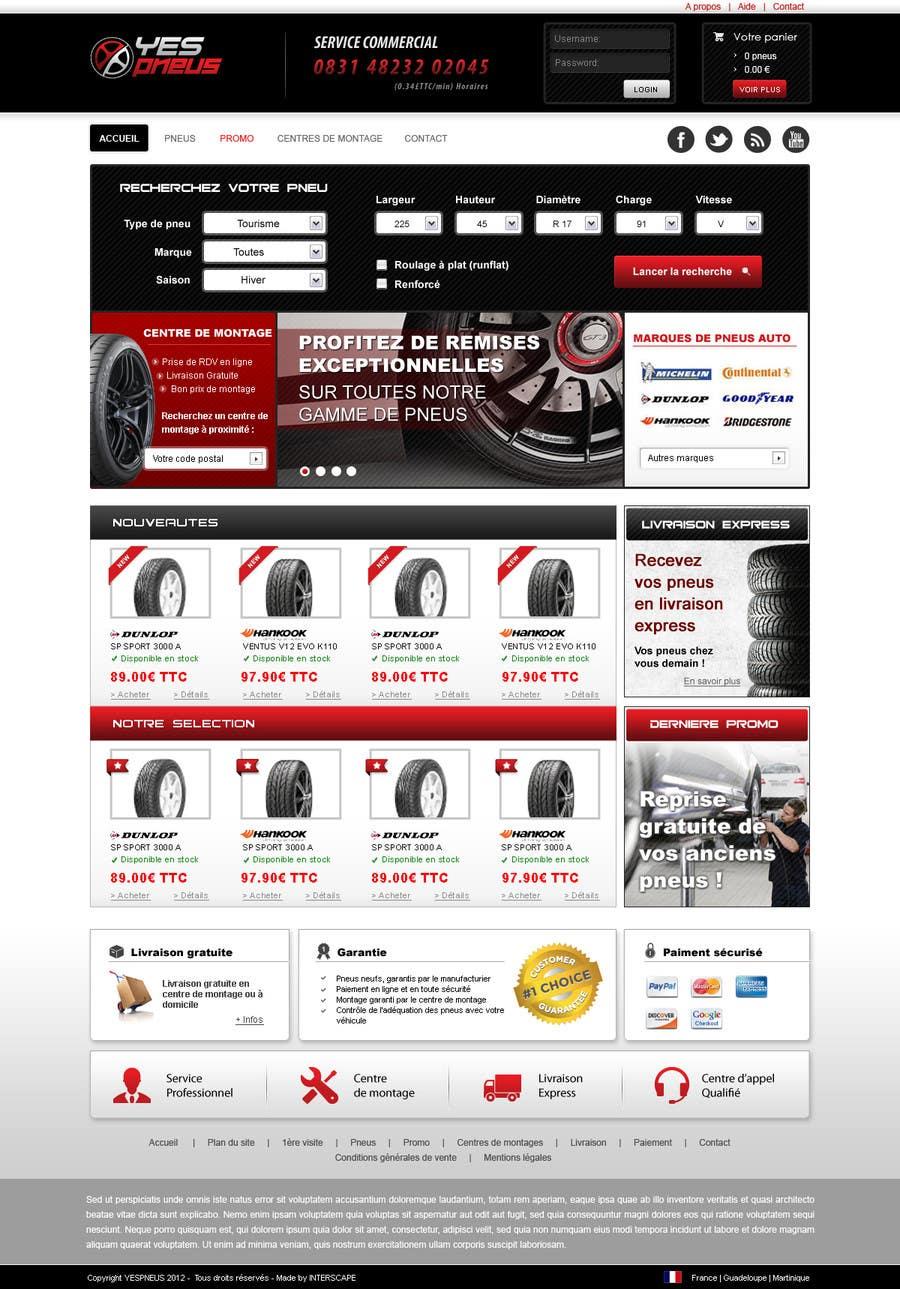 #37 for Website Design for Tyres by dragnoir