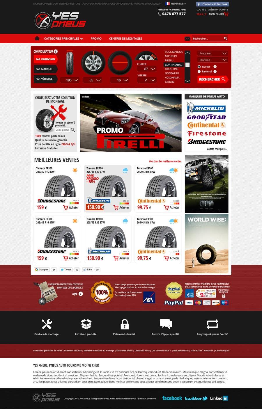 #21 for Website Design for Tyres by hipnotyka