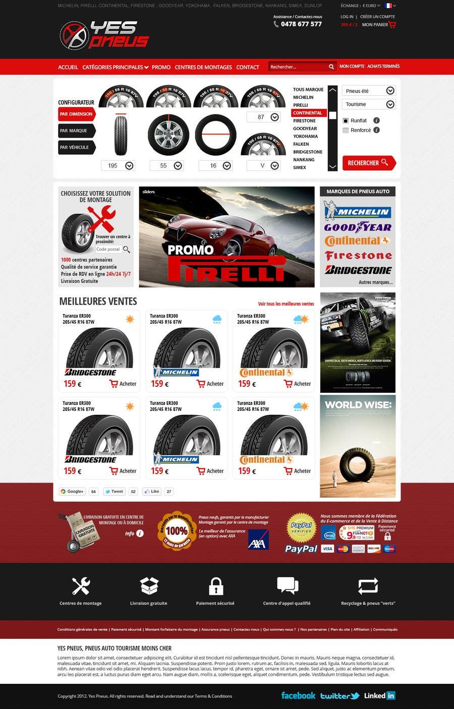 #11 for Website Design for Tyres by hipnotyka