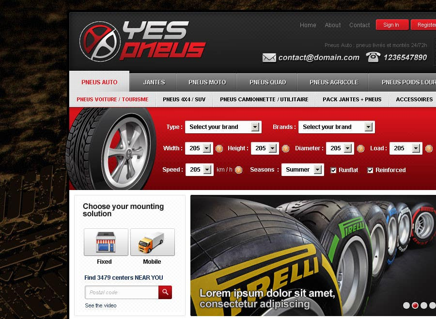 #30 for Website Design for Tyres by creator9