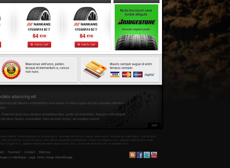 #33 for Website Design for Tyres by creator9