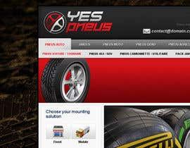 nº 27 pour Website Design for Tyres par creator9