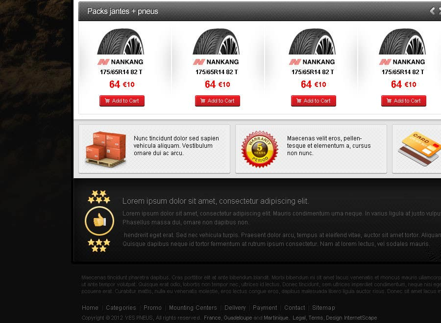 #32 for Website Design for Tyres by creator9