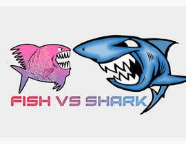 #23 for Fish vs Shark Icon/Logo by achrafboukili1